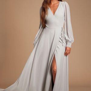 My whole heart dress lulus grey